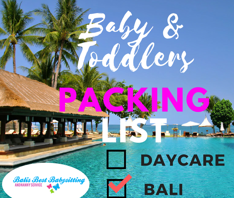 Bali Packing List – Babies & Toddlers!